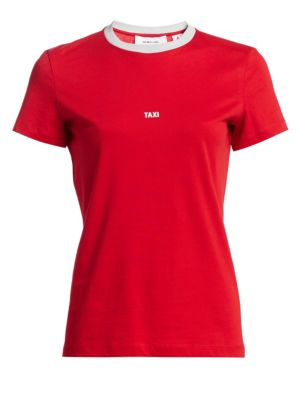 Opening Ceremony Hong Kong Taxi T-Shirt, Red Silver Grey from EAST DANE