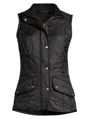 BARBOUR Diamond-Quilted Cavalry Gilet in Black