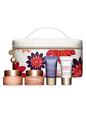 Image of $224 VALUE WHAT IT IS Put some spring into your routine with four plant-packed formulas that leave skin looking firm, smooth, radiant and more renewed, day after day. Made in France. FIVE-PIECE SET INCLUDES Extra-Firming Day: All Skin Types Full Size, 1.7
