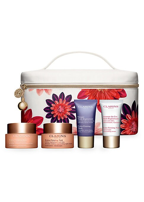 Image of $224 VALUE. WHAT IT IS. Put some spring into your routine with four plant-packed formulas that leave skin looking firm, smooth, radiant and more renewed, day after day. Made in France. FIVE-PIECE SET INCLUDES. Extra-Firming Day: All Skin Types Full Size,