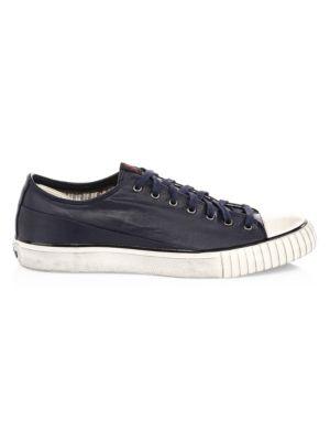 John Varvatos Coated Linen Low Top Sneakers