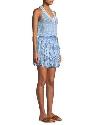 POUPETTE ST BARTH Poupette St. Barth Beline Cover-Up Dress in Blue