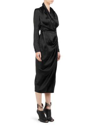 Silk Crepe Wrap Dress by Rick Owens