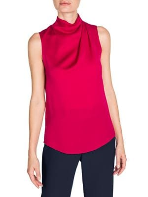 Silk Ruched Sleeveless Blouse by Giorgio Armani