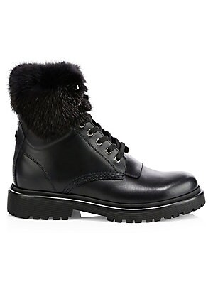 f3a112f8d6f4 Moncler - Patty Shearling-Trimmed Hiking Boots - saks.com