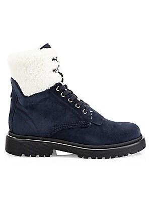 Boots Cuffed Patty Moncler Fur Mink Hiking 7PYqTX