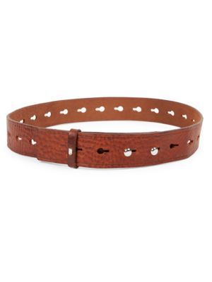 Marcia Perforated Belt in Brown