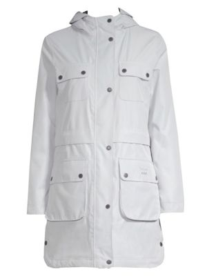 BARBOUR Isobar Waterproof Jacket W/ Four Pockets in White