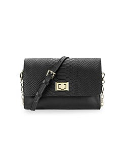 3370ae84a6 QUICK VIEW. Gigi New York. Catherine Snake-Embossed Leather Crossbody