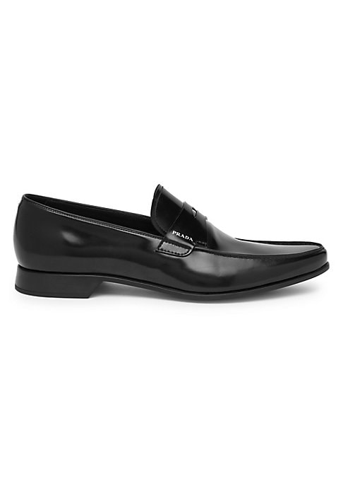 Image of Refined leather loafers with a point toe. Leather upper. Point toe. Slip-on style. Leather lining and sole. Made in Italy.