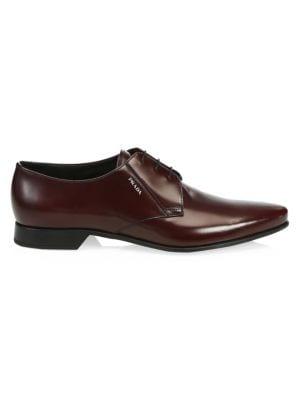 Vitello Nectar Leather Dress Shoes by Prada