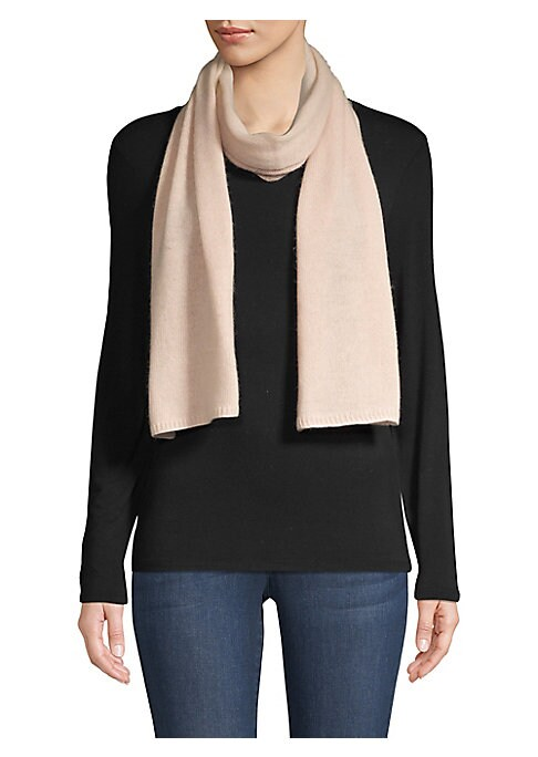 """Image of Minimalist scarf spun from plush cashmere. Cashmere. Dry clean. Imported. SIZE.10""""W x 66""""H."""
