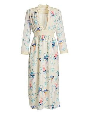 Borgo De Nor Eve Long-Sleeve Midi Dress
