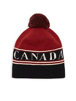 410f2e123606e QUICK VIEW. Canada Goose. Logo Wool Pom Beanie
