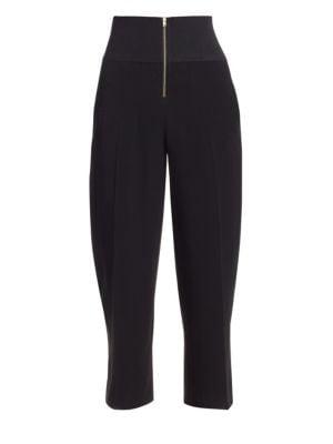 Carven High-Waist Zip Trousers