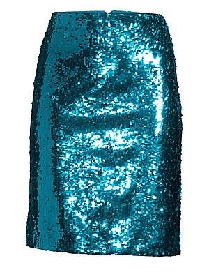 cb4fa7f0d Alice + Olivia - Ramos Sequin Fitted Skirt - saks.com