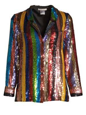 Keir Sequin Embellished Pajama-Style Top, Multi