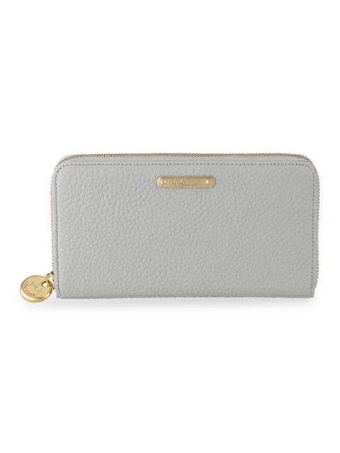 Gigi New York Large Leather Zip-Around Wallet | SaksFifthAvenue