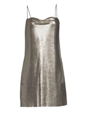 Alice Olivia Harmony Chainmail Mini Slip Dress
