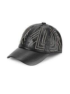 001ff23af85ec Gunta Stud Leather Baseball Cap BLACK. QUICK VIEW. Product image