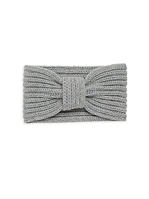 """Image of Wool-blend knitted headband with bow design Wool/acrylic Width, 5"""" Dry clean Imported. Soft Accessorie - Cold Weather Accessories. Portolano. Color: Pink."""
