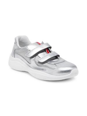 PRADA Amercias Cup Strap Sneakers, Silver