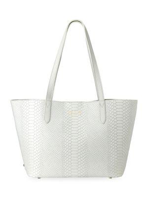 Gigi New York Teddie Snake-Embossed Leather Tote Bag
