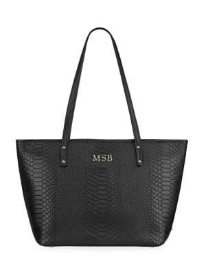 Gigi New York Taylor Snake-Embossed Leather Tote Bag