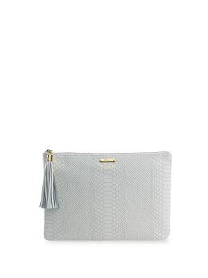 Gigi New York Uber Personalized Embossed Leather Clutch