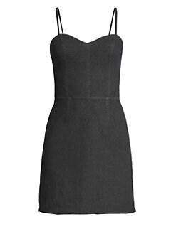 Bailey 44 Woman Lace-up Eyelet-embellished Linen Mini Dress Black Size 10 Bailey 44 iVX5q