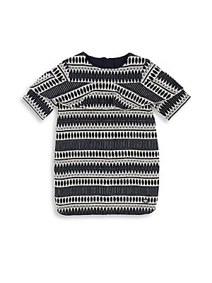 Image of Graphic jacquard print with sparkling metallic threads Roundneck Short sleeves Pull-on style Cotton/acrylic/metallised fiber Machine wash Imported. Children's Wear - Classic Children > Saks Fifth Avenue. Carrément Beau. Size: 12.
