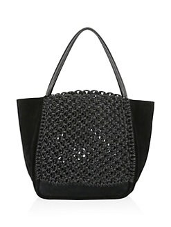 Cotton   Leather Macramé Tote BLACK. QUICK VIEW. Product image. QUICK VIEW. Proenza  Schouler 3fa578cb780d4