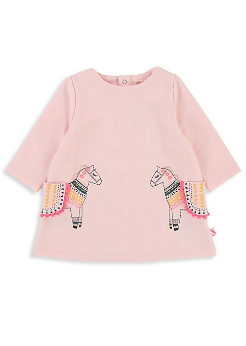 Image of Adorable cotton-blend dress features donkey-inspired design. Roundneck. Long sleeves. Back snap closure. Front patch pockets. Polyester/cotton. Machine wash. Imported.