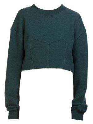 Cédric Charlier Cropped Sweatshirt - Green