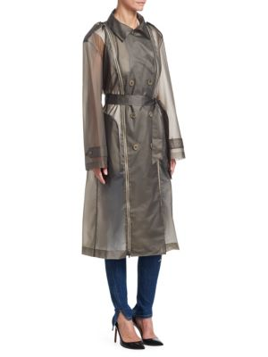 TRE BY NATALIE RATABESI Zip-Up Trench Coat in Smoke