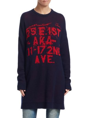 TRE BY NATALIE RATABESI Mars Bar Cashmere Sweater in Navy
