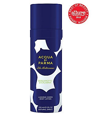 Image of A lightweight and ultra-fine hydrating body mist to vaporize generously on your skin for a pleasant feeling of freshness and well-being. 5 oz. Made in Italy. A new ritual for an uplifiting experience enhanced by the fresh and sophisticated notes of Bergam