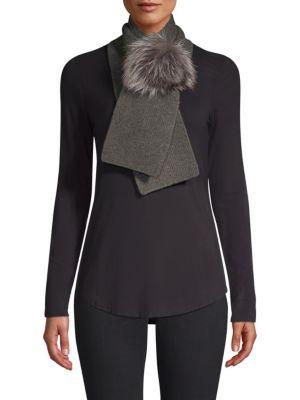 Portolano Cashmere & Fox Fur Scarf