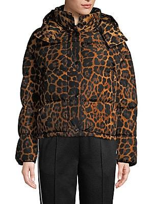 cba09cb51 Moncler - Caille Matte Leopard Print Puffer Jacket