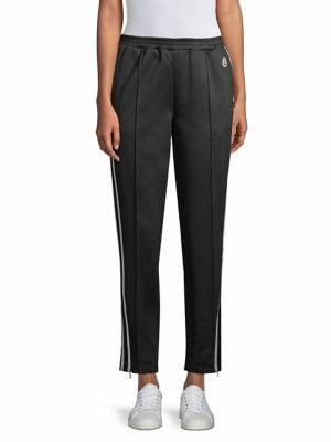 Cotton-Blend Trackpants, Black
