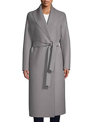 Harris Wharf London - Self-tie Wool Trench Coat - saks.com 614b4f6c74954