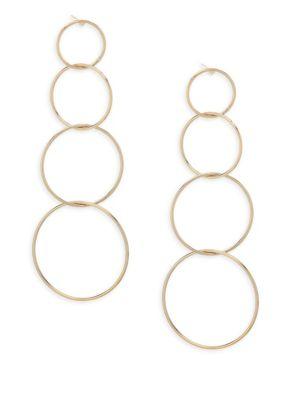 Jules Smith Quatro Hoop Drop Earrings