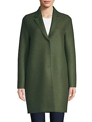 Harris Wharf London - Virgin Wool Collarless Coat - saks.com ef38426783201