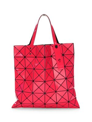 Issey Miyake Lucent Two-Tone Tote in Red