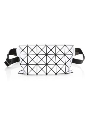 Geometric Paneled Waist Bag, White