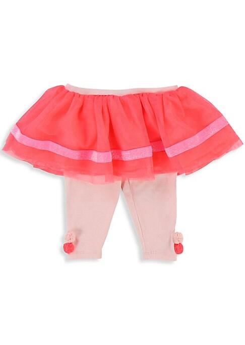 Image of Adorable leggings with tutu and bow detailing. Elasticized waistband. Pull-on style. Lined. Polyester/cotton/elastane. Machine wash. Imported.