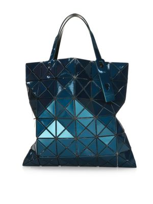 Lucent Metallic Tote in Blue