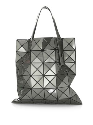 Lucent Metallic Tote in Gunmetal