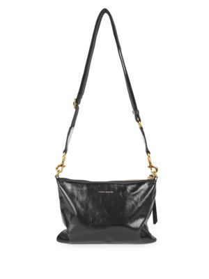 Isabel Marant Nessah Leather Crossbody Bag - Black   ModeSens 3a158cf481