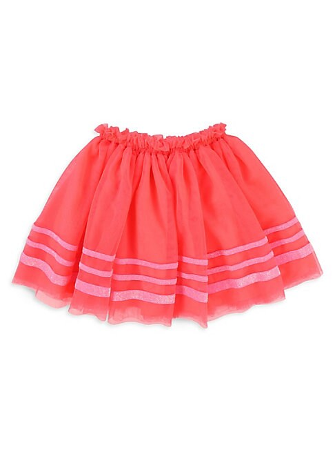 Image of Adorable tulle skirt finished with striped detailing. Elasticized waist. Lined. Polyester/velour. Machine wash. Imported.